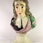 A bust of John Milton marked '81 R A Wood' (slight chip to left hand jaw line)