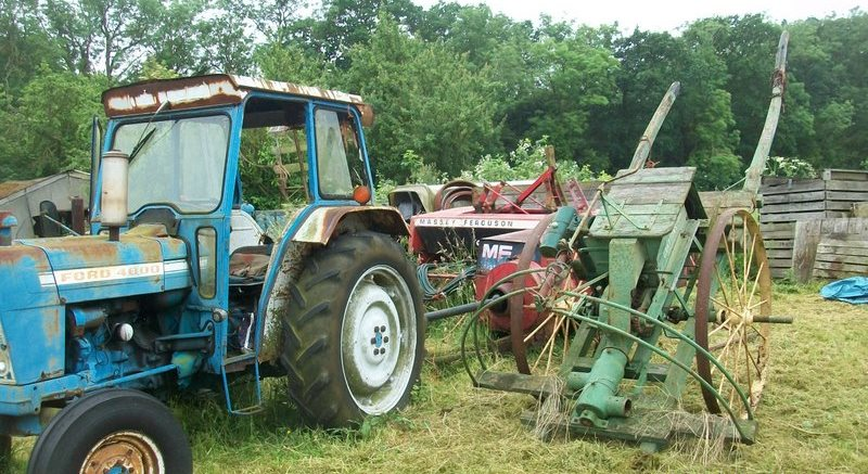 Tractors and machinery at auction