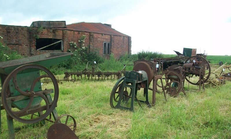 Vintage Farming Tools sold at auction