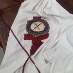 19th c knights templar robe with rate lincolnshire badge