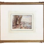 French River Scene painting attributed to Richard Parkes Bonington (1802-1828)