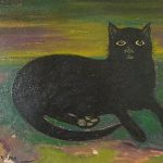 Mary Fedden (1915–2012) Black Cat at Unique Auctions