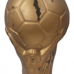 1990 World Cup souvenir wine bottle designed as the FIFA World Cup Trophy containing 3 litres Barola
