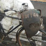 1950 Cymota 45cc Cyclemotor bicycle attachment on bike
