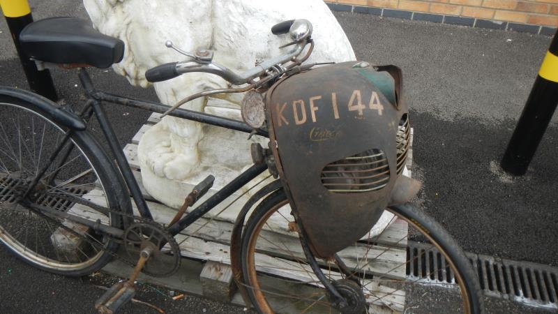 1950 Cymota 45cc Cyclemotor bicycle attachment on bike