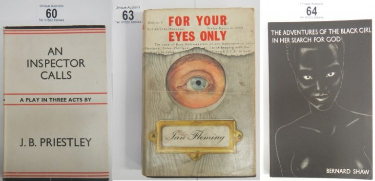 1st edition books including An Inspector Calls