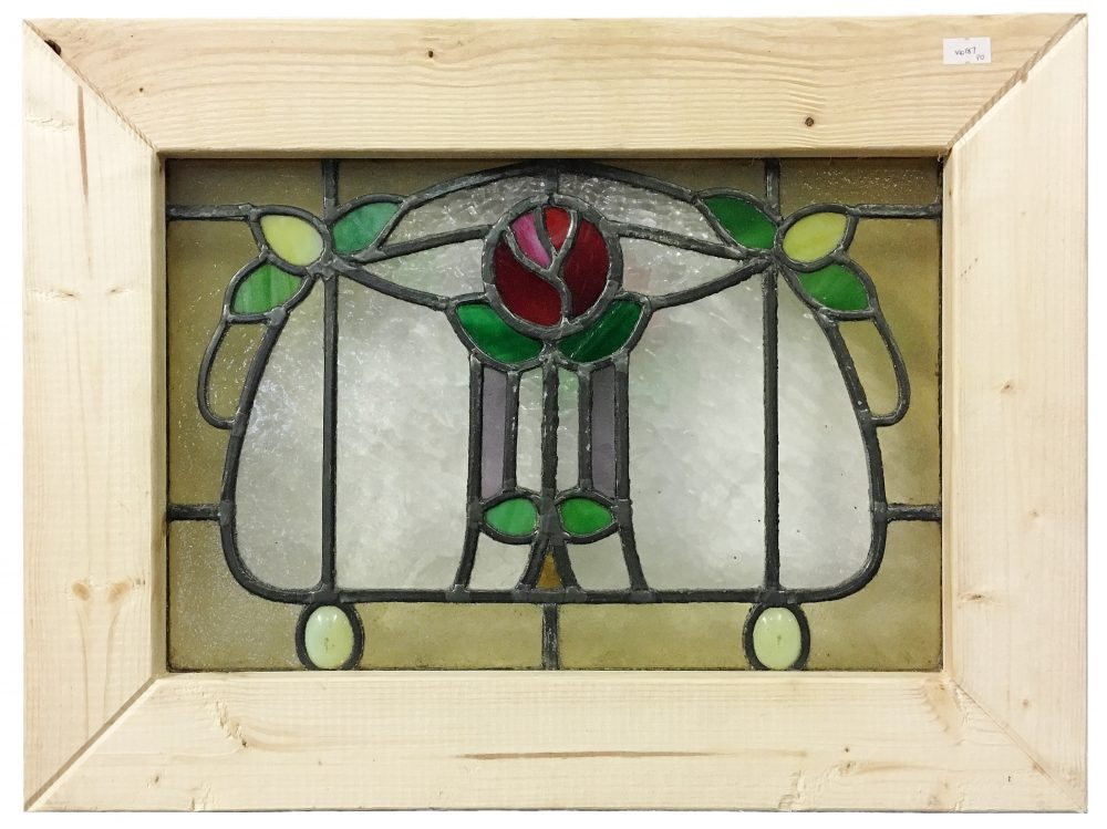 Architectural Salvage A small Victorian stained glass window