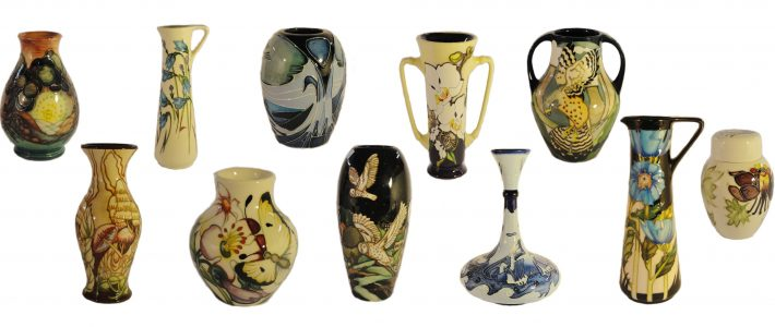 Moorcroft collection in Sunday 26th August Auction
