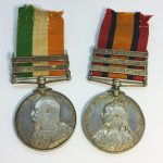 Victoria and Edward South Africa Medals for Pte Alcock Lincolnshire Regiment in Sun 28th Oct Auction