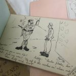 Interesting collection of WW1 air service memorabilia including autograph album with pictures