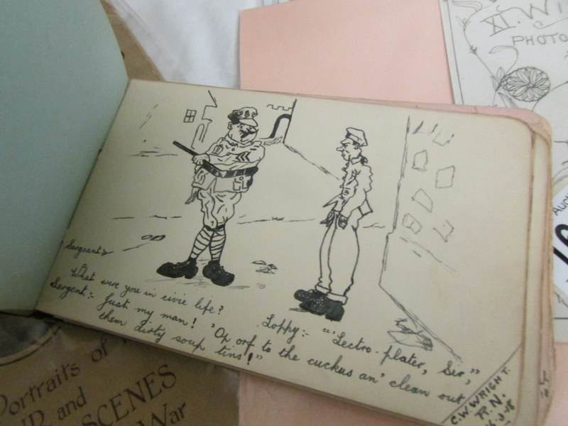wwi autographs cartoons etc