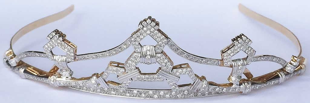 Stunning Diamond Tiara set in 18ct Gold and a fine 2ct champagne diamond ring on platinum to be Sold at Unique Auctions – 28th July 2019