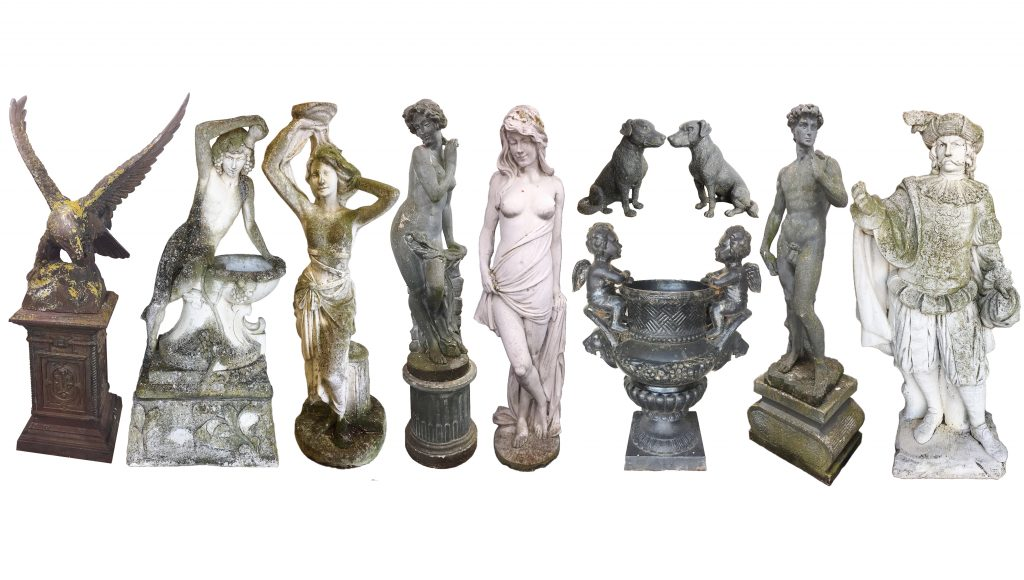 Collection of statues