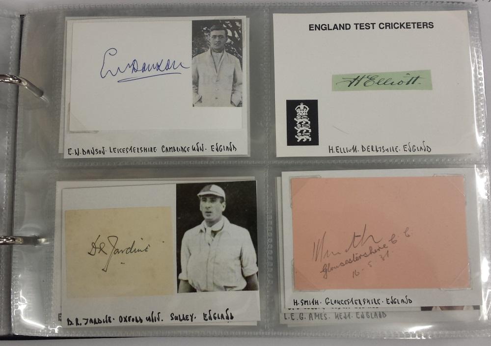 cricket autographs including douglas jardine