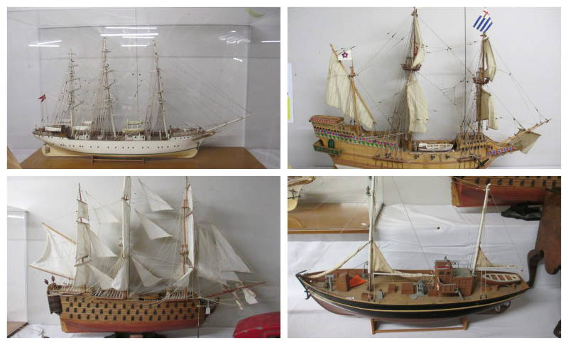 model ships collage 1