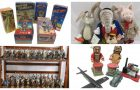 Vintage Toys, Tinplate, Robots and Soldiers play on New Years Day