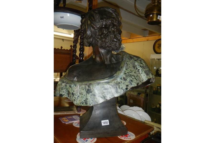 Late 19th century Bronze Bust