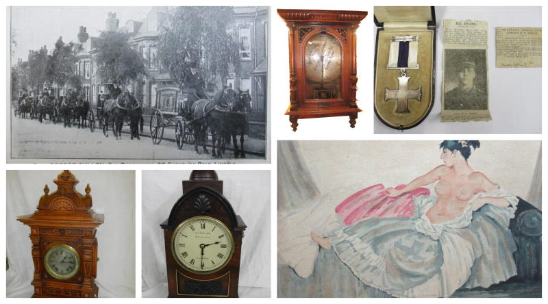 COLLAGE OF ANTIQUES