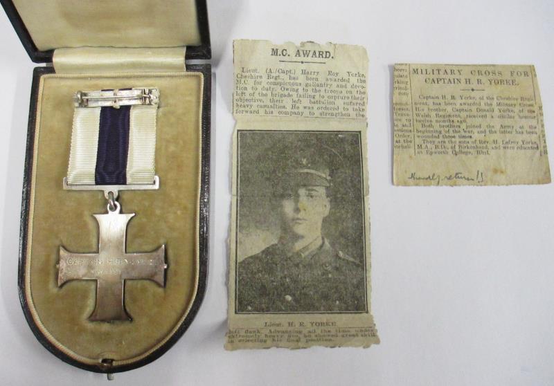 military cross for captain harry yorke