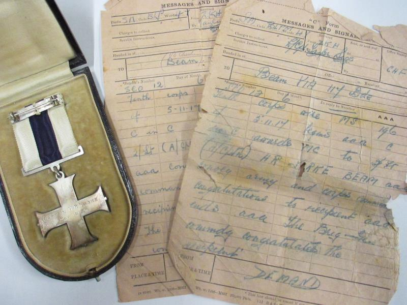 military cross and signals notes