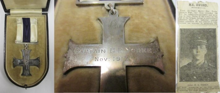 Military Cross for Captain H R Yorke, other medals and papers