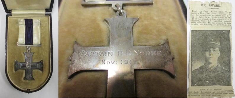 military cross for captain harry yorke cheshire regiment