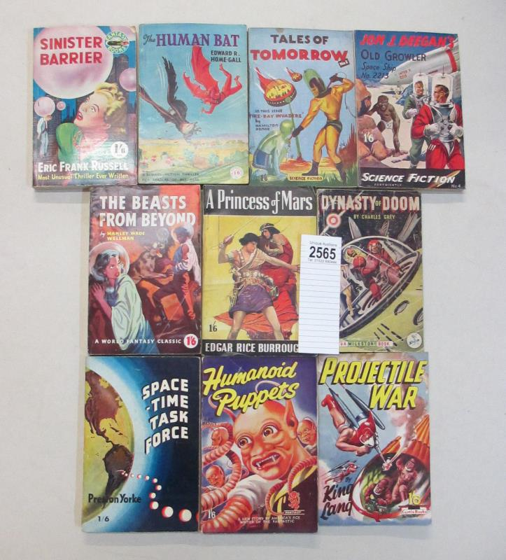 early Science Fiction books and magazines