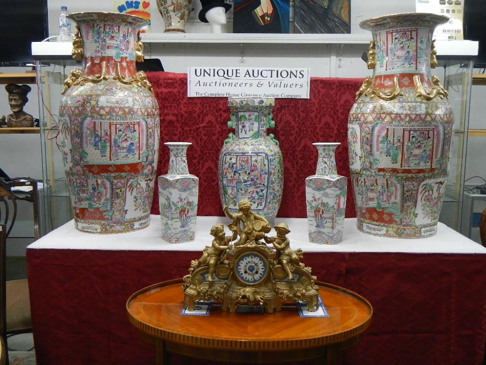 Oriental items and fine clocks
