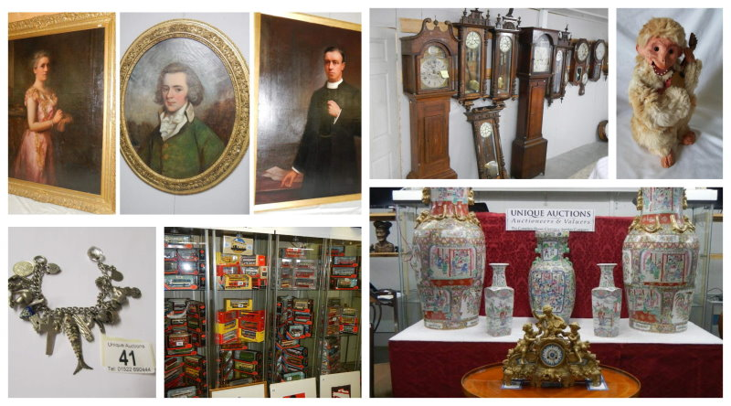 Collage of forthcoming auction items 12th July 2020
