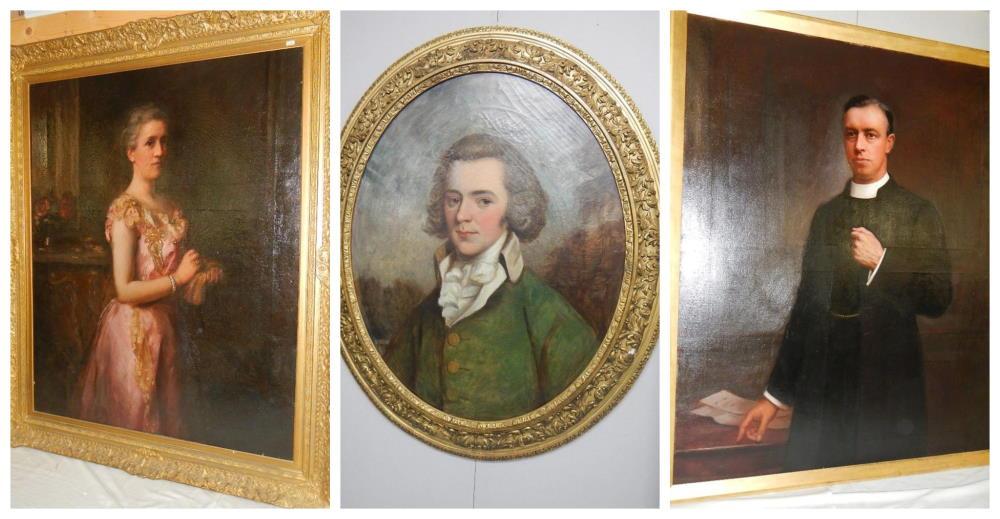 Fine Art at 12th July auction including fine Gainsborough style portrait