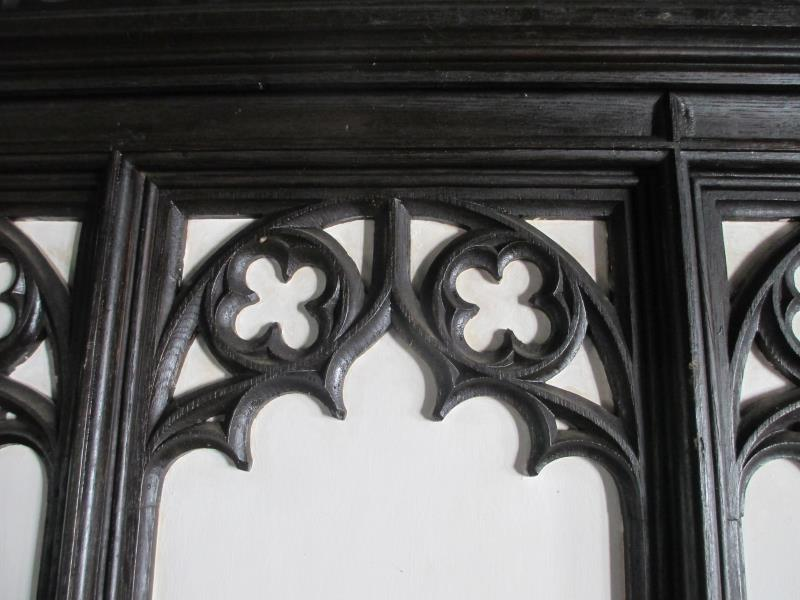 Close up of Ornate Antique Panelling from old Lincolnshire Cottage