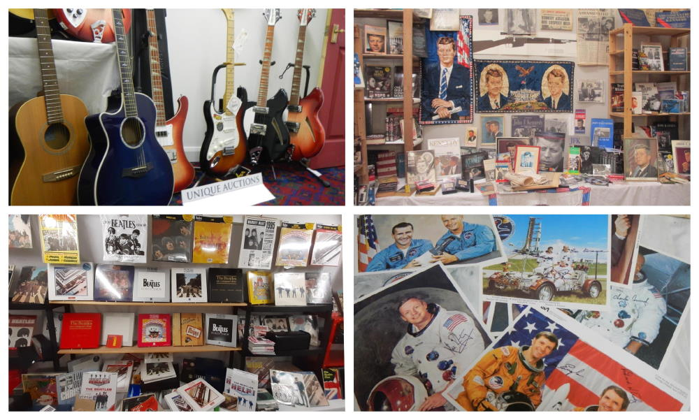 space jfk guitars collage