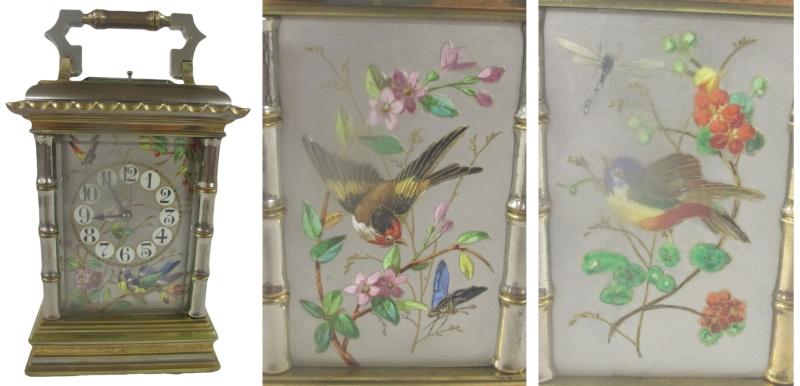 bird carriage clock montage