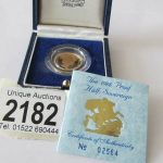 1988 gold half sovereign