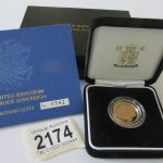 A 2005 gold proof sovereign