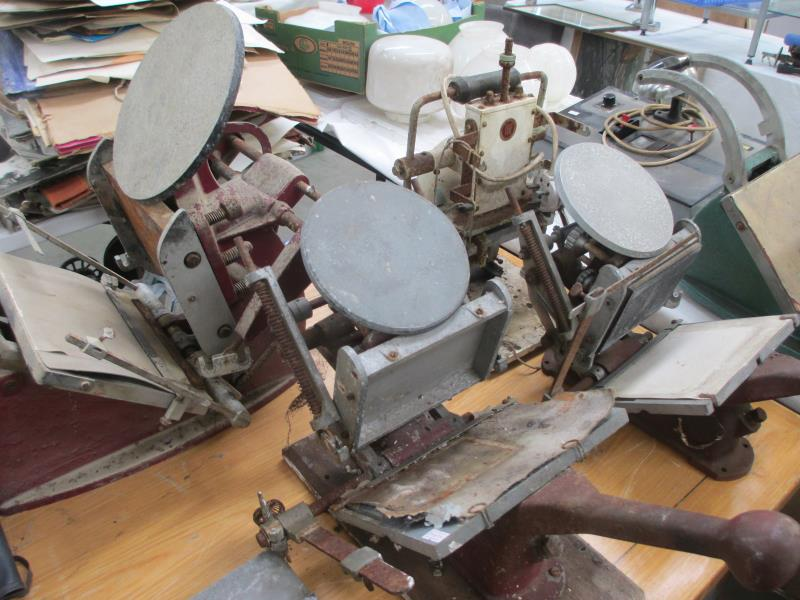 Vintage Printing Press and Print related collection