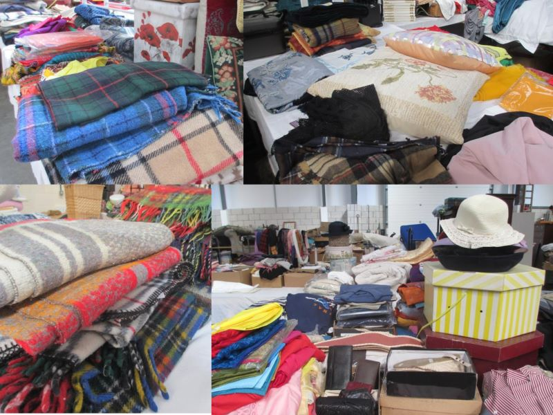 textiles collage