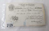 white £10 note