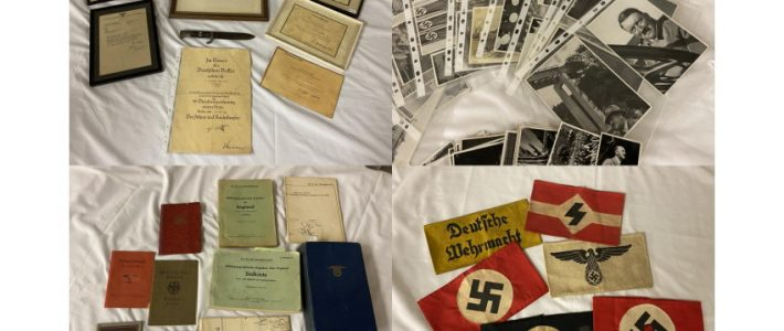 Collection of WW2 and NAZI era German ephemera, militaria and medals